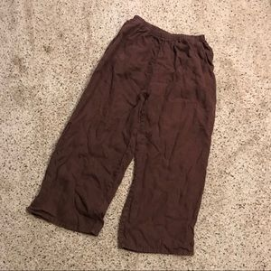 FLAX Small Wide Leg Cropped Pants